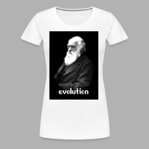 Darwin Evolution Pixels - Women's Premium T-Shirt
