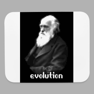Darwin Evolution Pixels - Mouse pad Horizontal