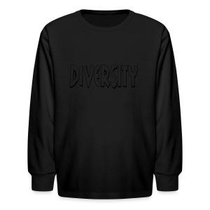 Diversity (Outline) - Kids' Long Sleeve T-Shirt