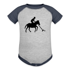 Polo Player in Silhouette - Baby Contrast One Piece