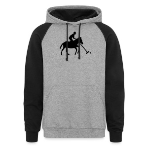 Polo Player in Silhouette - Colorblock Hoodie