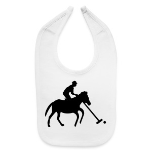Polo Player in Silhouette - Baby Bib