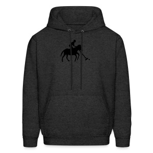 Polo Player in Silhouette - Men's Hoodie