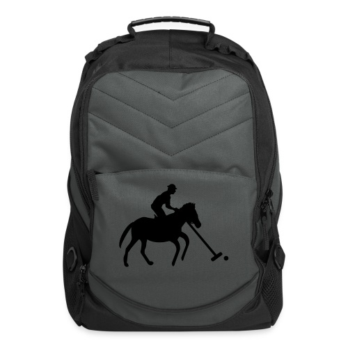 Polo Player in Silhouette - Computer Backpack