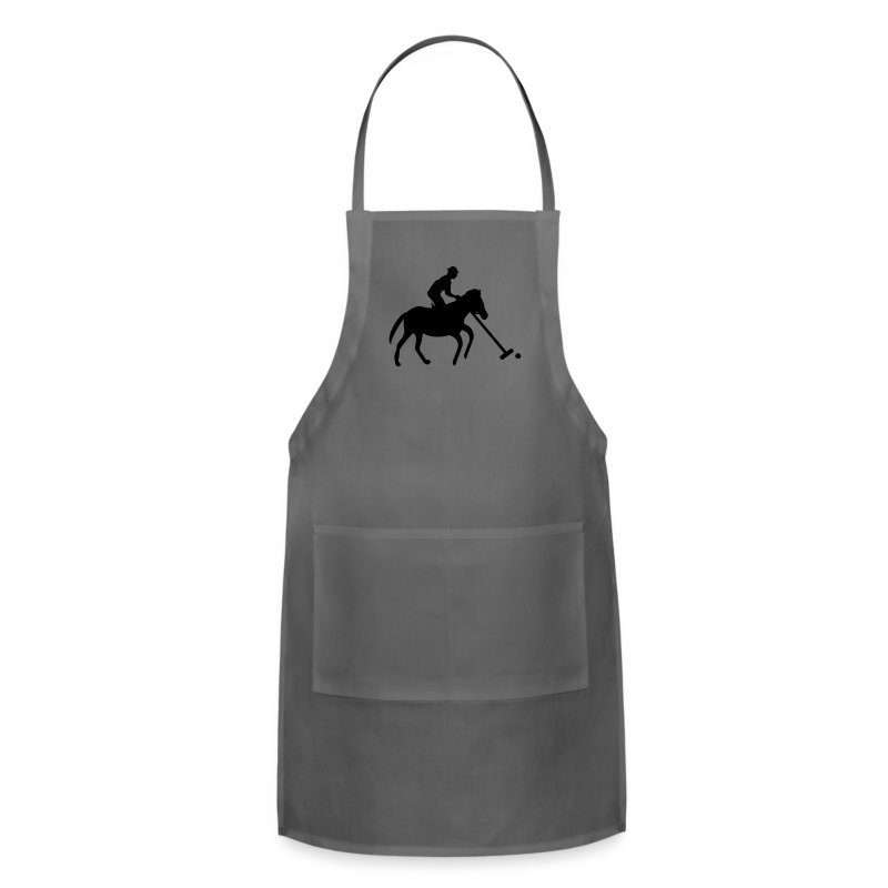 Polo Player in Silhouette - Adjustable Apron