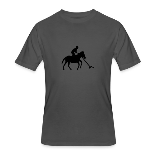 Polo Player in Silhouette - Men's 50/50 T-Shirt