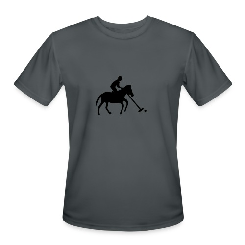 Polo Player in Silhouette - Men's Moisture Wicking Performance T-Shirt