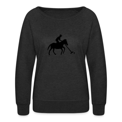 Polo Player in Silhouette - Women's Crewneck Sweatshirt