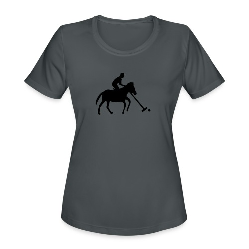 Polo Player in Silhouette - Women's Moisture Wicking Performance T-Shirt