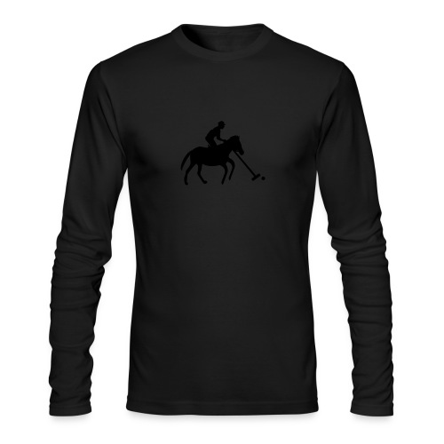 Polo Player in Silhouette - Men's Long Sleeve T-Shirt by Next Level