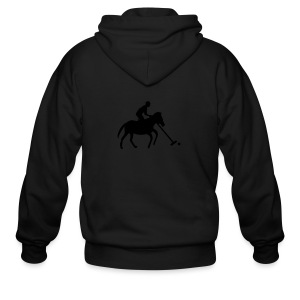 Polo Player in Silhouette - Men's Zip Hoodie