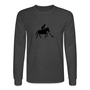 Polo Player in Silhouette - Men's Long Sleeve T-Shirt