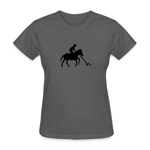 Polo Player in Silhouette - Women's T-Shirt