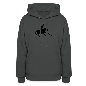 Polo Player in Silhouette - Women's Hoodie
