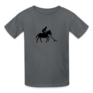 Polo Player in Silhouette - Kids' T-Shirt