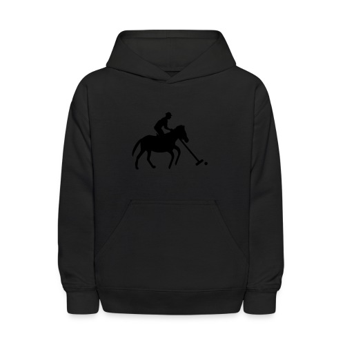 Polo Player in Silhouette - Kids' Hoodie