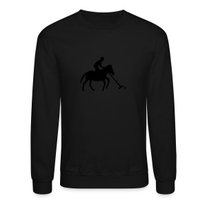 Polo Player in Silhouette - Crewneck Sweatshirt