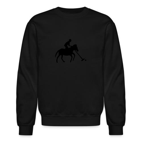 Polo Player in Silhouette - Crewneck Sweatshirt