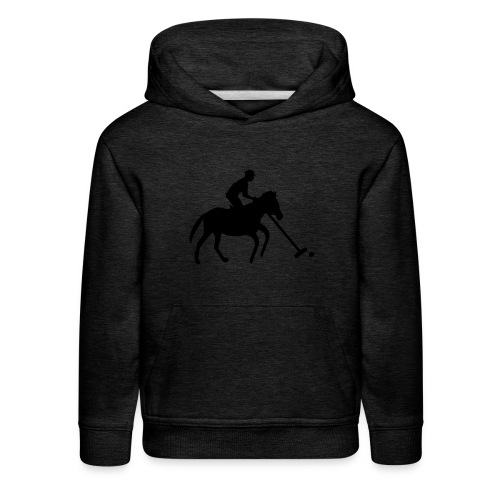 Polo Player in Silhouette - Kids' Premium Hoodie