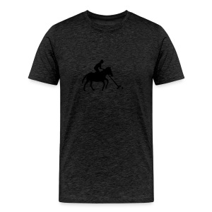 Polo Player in Silhouette - Men's Premium T-Shirt