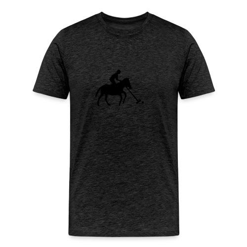 Polo Player in Silhouette - Men's Premium T-Shirt