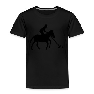Polo Player in Silhouette - Toddler Premium T-Shirt