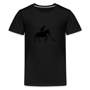 Polo Player in Silhouette - Kids' Premium T-Shirt