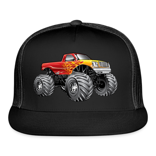 Blazing Fire Monster Truck - Trucker Cap