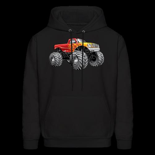 Blazing Fire Monster Truck - Men's Hoodie