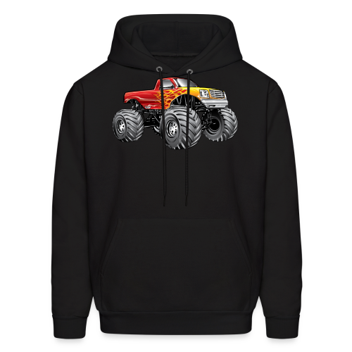 Blazing Fire Monster Truck - Men's Hoodie