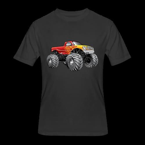 Blazing Fire Monster Truck - Men's 50/50 T-Shirt