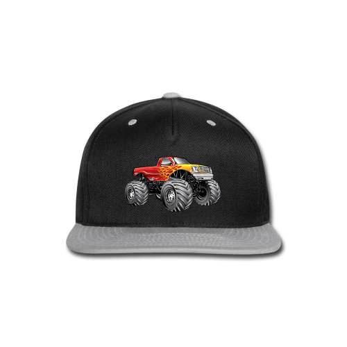 Blazing Fire Monster Truck - Snap-back Baseball Cap