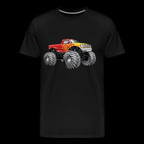Blazing Fire Monster Truck - Men's Premium T-Shirt