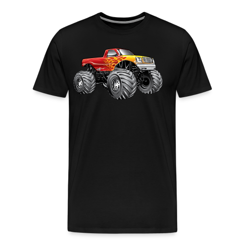 Blazing Fire Monster Truck - Men's Premium T-Shirt