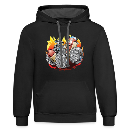 Hot Dog Monster Truck - Contrast Hoodie