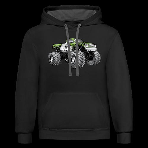 Skull Death Monster Truck - Contrast Hoodie