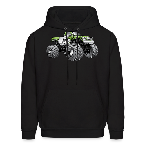 Skull Death Monster Truck - Men's Hoodie