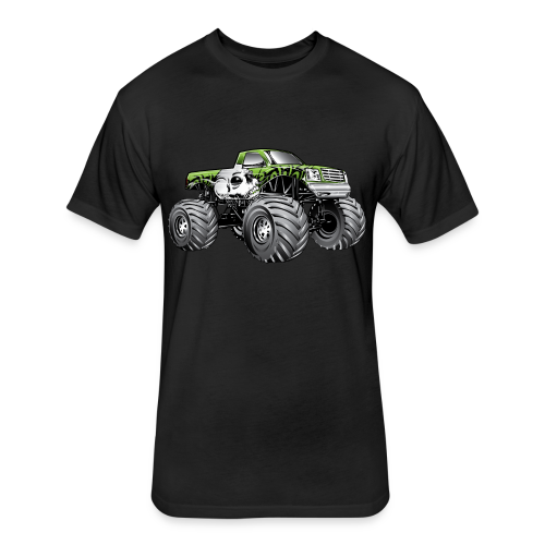 Skull Death Monster Truck - Fitted Cotton/Poly T-Shirt by Next Level