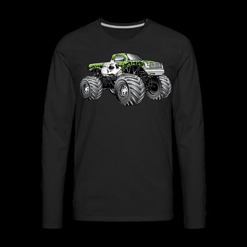 Skull Death Monster Truck - Men's Premium Long Sleeve T-Shirt