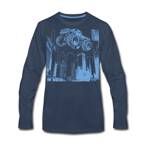 Flying Monster Truck - Men's Premium Long Sleeve T-Shirt