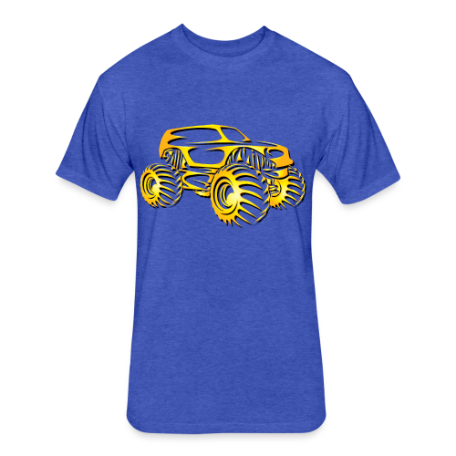 Monster Truck SUV - Fitted Cotton/Poly T-Shirt by Next Level