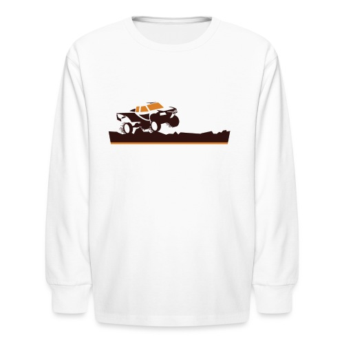 Race Truck Mud Run - Kids' Long Sleeve T-Shirt