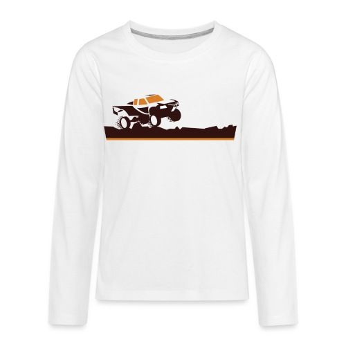 Race Truck Mud Run - Kids' Premium Long Sleeve T-Shirt