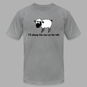 Sheep the One on the Left - Men's Fine Jersey T-Shirt