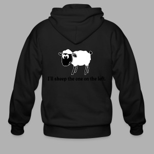 Sheep the One on the Left - Men's Zip Hoodie