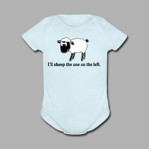 Sheep the One on the Left - Short Sleeve Baby Bodysuit