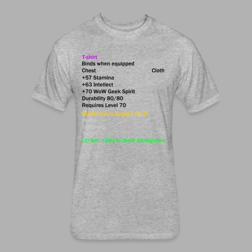 Epic T-Shirt Set Piece - Fitted Cotton/Poly T-Shirt by Next Level