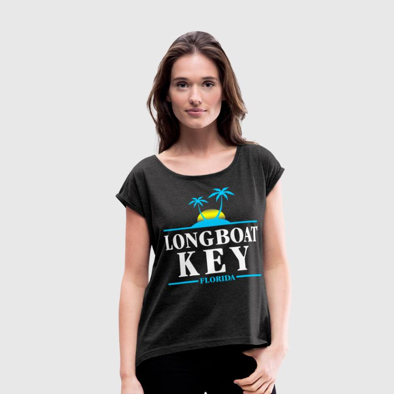 Longboat Key Florida T-Shirts - Women's Roll Cuff T-Shirt