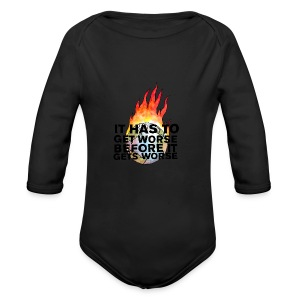 It Has To Get Worse... Tote Bag - Long Sleeve Baby Bodysuit