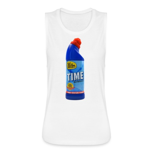 Time Bleach - Women's T-Shirt - Women's Flowy Muscle Tank by Bella
